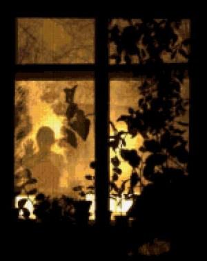Силуэт в окне