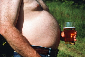 Живот от пива?