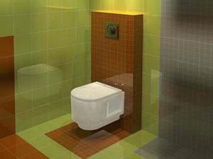 Cовременная туалетная комната